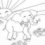 Baby Elephant Coloring Page Picture