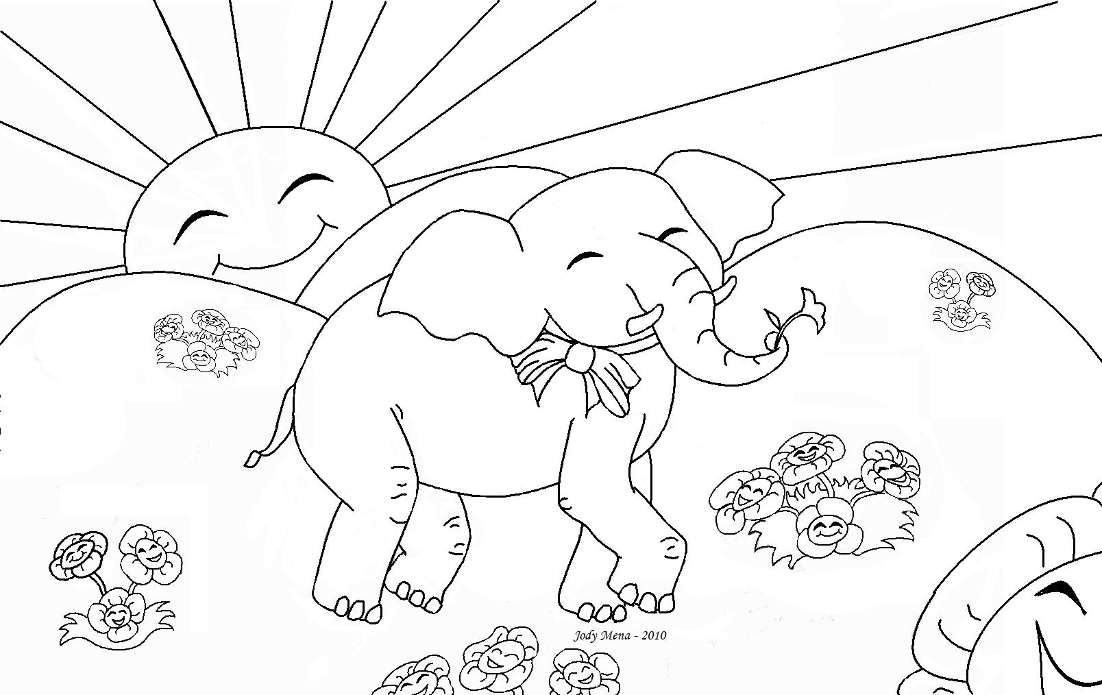 printable elephant coloring pages - photo#25