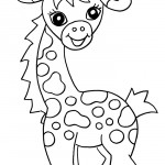 Baby Giraffe Coloring Page Picture