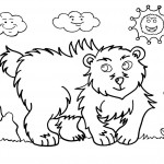 Bear Coloring Page Image