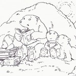 Bear Coloring Page for Kids Photo
