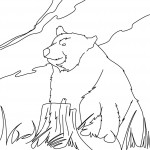 Bear Coloring Pages for Kids Picture