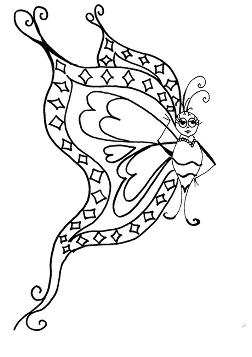 Co colouring in pages butterfly - Beautiful Butterfly Coloring Pages Picture
