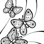 Picture of Butterfly Coloring Page