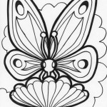 Image of Butterfly Coloring Page for Kids
