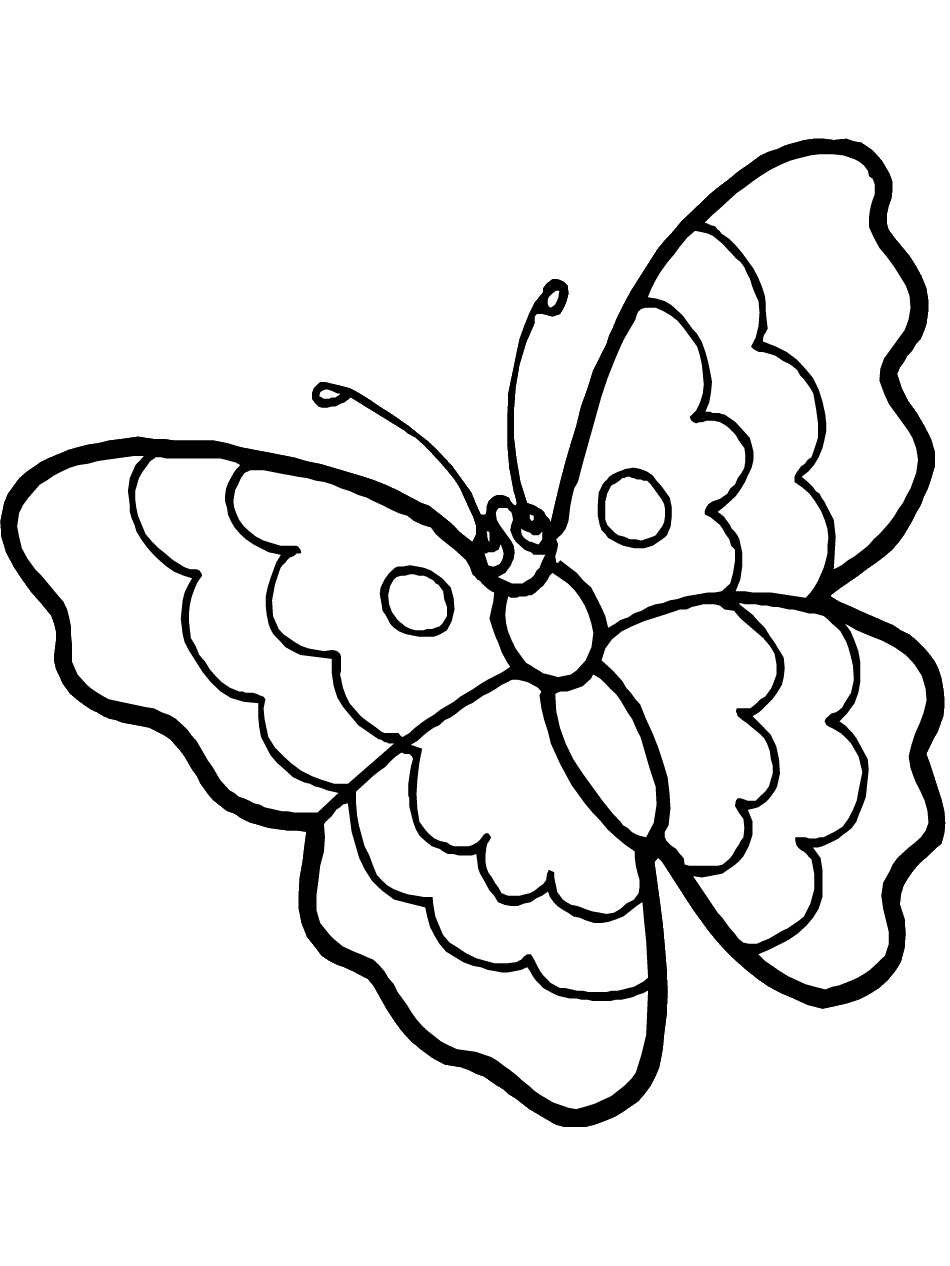 free printable butterfly coloring pages for kids | animal place - Coloring Pages Butterfly Kids