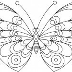 Picture of Butterfly Coloring Pages Printable