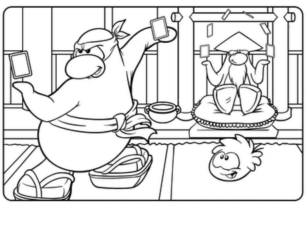 Free printable penguin coloring pages for kids animal place for Club penguin coloring page