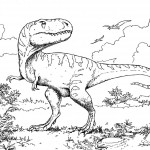 Coloring Page of Dinosaur Photo