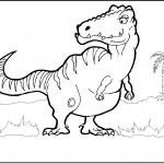 Image of Coloring Page of Dinosaur