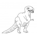 Photo of Coloring Page of Dinosaur