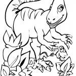 Photos of Coloring Page of Dinosaur