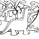 Picture of Coloring Page of Dinosaur