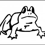 Coloring Page of Frog