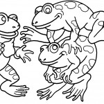 Coloring Page of Frogs