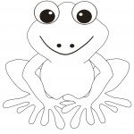 Coloring Page of Frogs Image