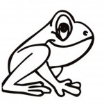 Coloring Page of Frogs Picture