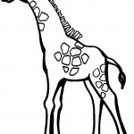 Coloring Page of Giraffe Image