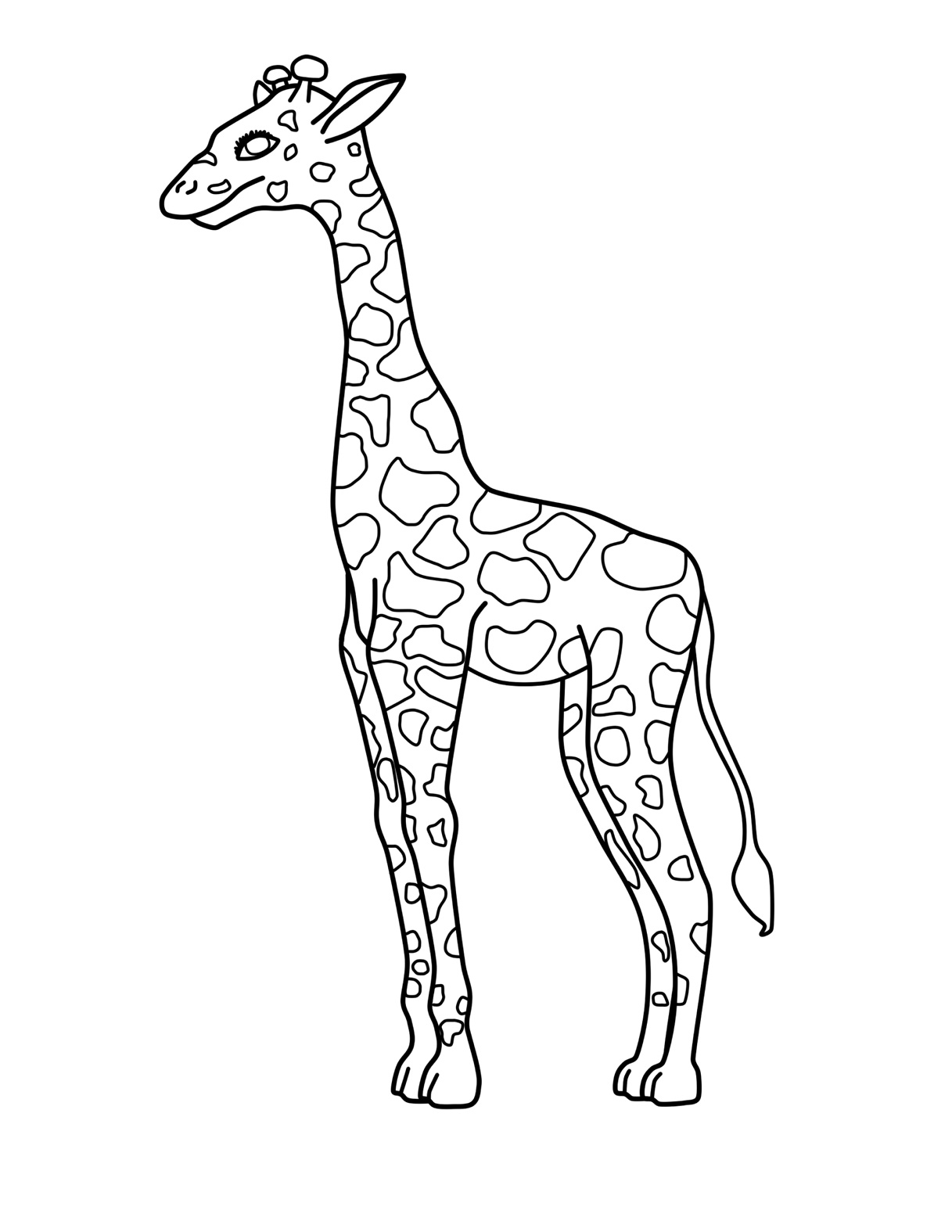 Free coloring pages giraffe - Free Printable Giraffe Coloring Pages For Kids