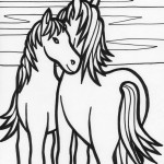 Pictures of Coloring Page of Horse