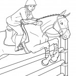 Picture of Coloring Page of Horses