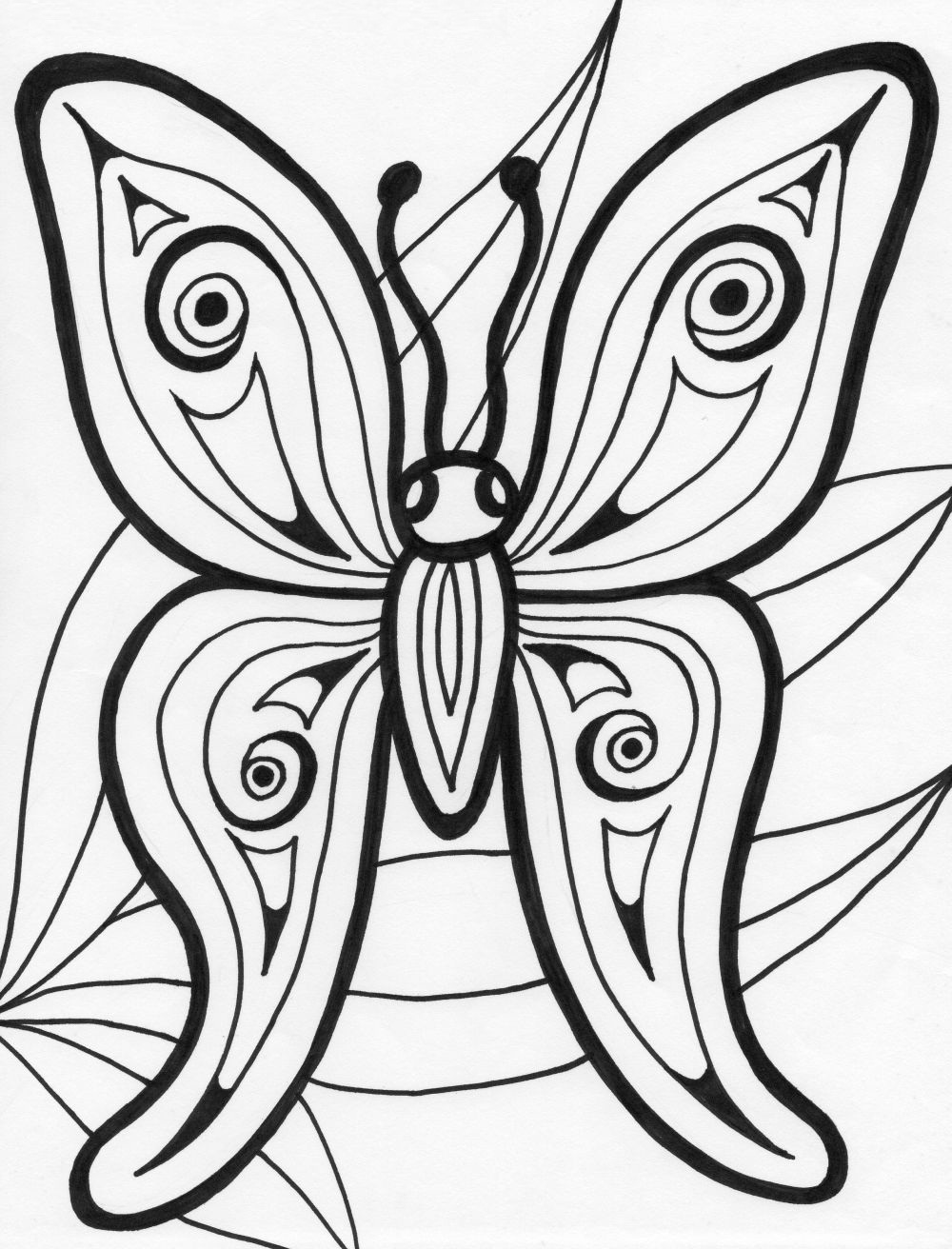 Free printable butterfly coloring pages for kids animal for Color pages of butterflies