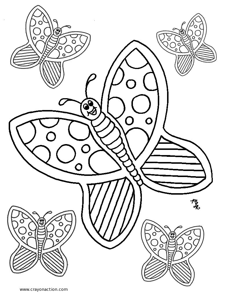 Butterfly Coloring In Pictures