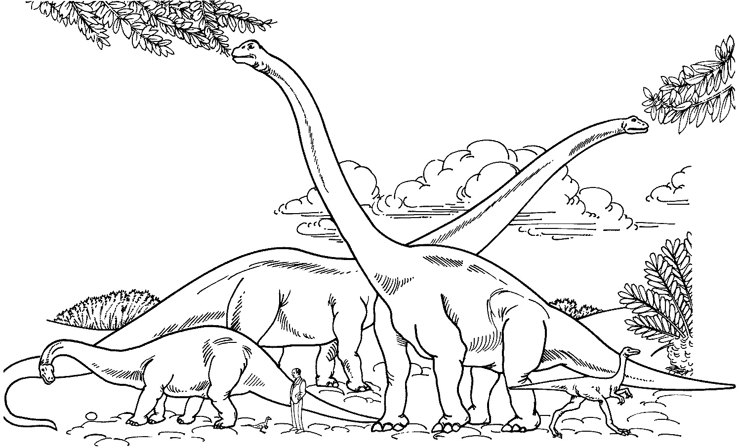 Free printable coloring pages environment - Coloring Pages Of Dinosaur Picture