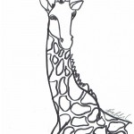 Coloring Pages of Giraffe Image