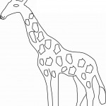 Coloring Pages of Giraffe Images