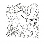 Image of Cute Dog Coloring Pages
