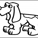 Picture of Cute Dog Coloring Pages