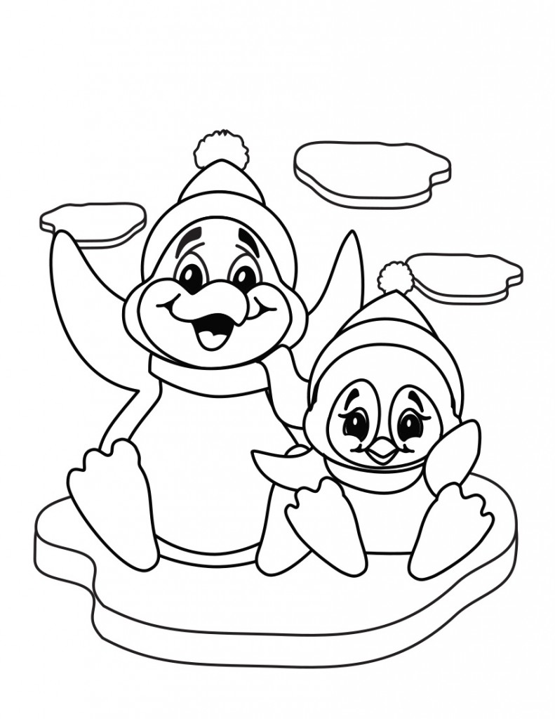 Cute Penguin Coloring Pages Image - Animal Place