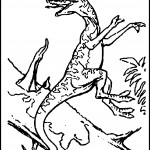 Dinosaur Coloring Page for Kids Image