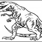 Dinosaur Coloring Pages Fierce Photo