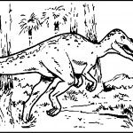 Dinosaur Coloring Pages Hunting Photo