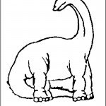Image of Dinosaurs Coloring Page