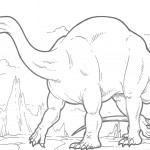 Picture of Dinosaurs Coloring Pages