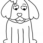 Dog Coloring Page Image
