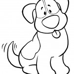 Image of Dog Coloring Page