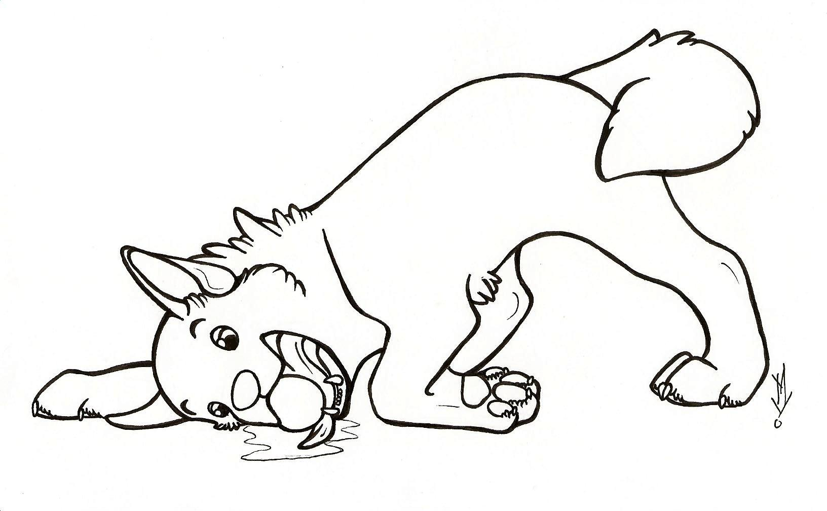 Free printable dog coloring pages for kids animal place for Collie coloring pages
