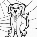 Photo of Dog Coloring Page