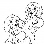 Picture of Dog Coloring Page
