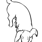 Images of Dog Coloring Pages for Kids