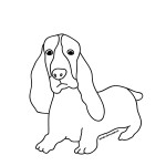 Photos of Dog Coloring Pages for Kids