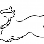 Picture of Dog Coloring Pages for Kids