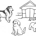 Dogs Coloring Pages Image