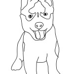Images of Dogs Coloring Pages for Kids