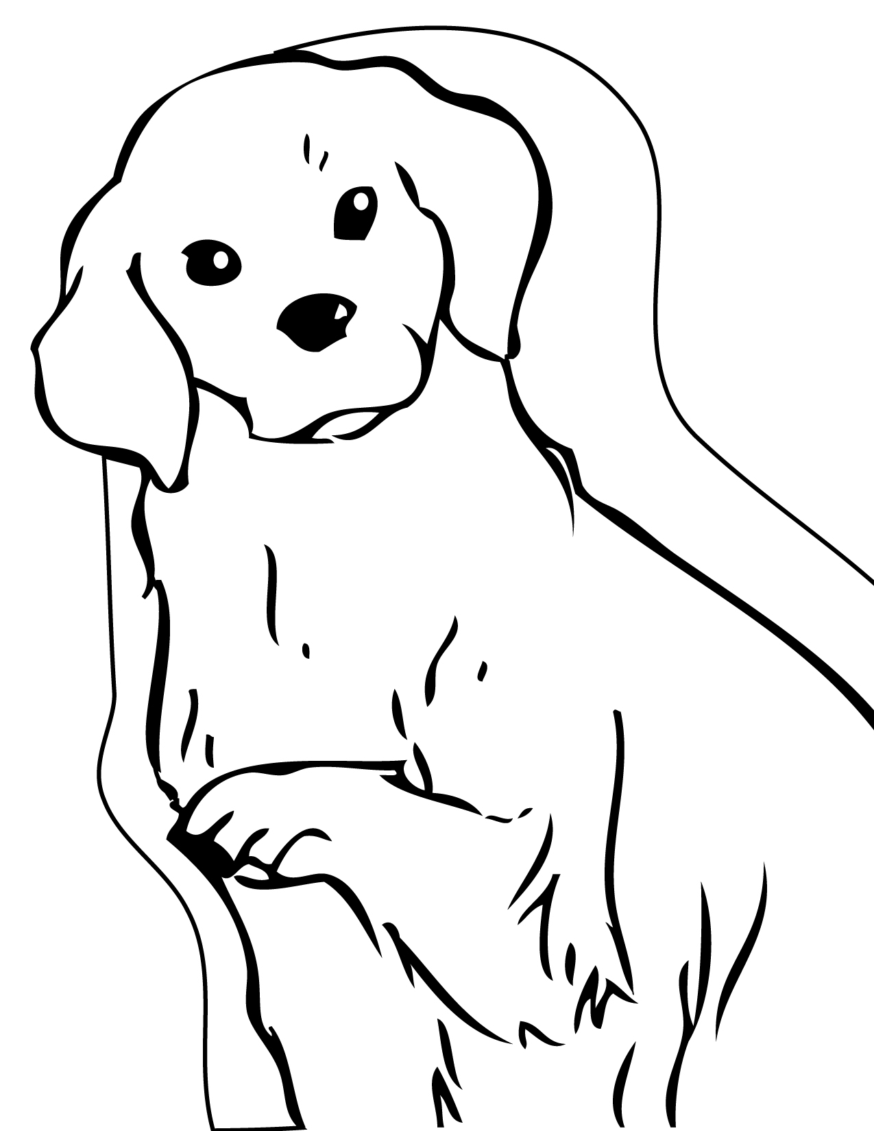 Dogs Coloring Pages for Kids Picture