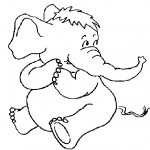 Elephant Coloring Page Image
